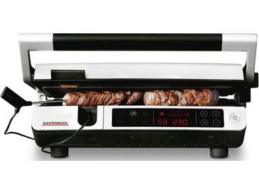Gastroback Kontaktgrill 42539 Design BBQ Advanced Control, 2000 W, silberfarben-schwarz