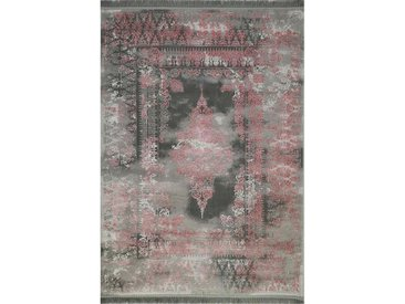 RESITAL The Voice of Carpet Teppich »Vogue 221«, rechteckig, Höhe 12 mm, Kurzflor mit Hoch-Tief-Struktur, rosa, pink