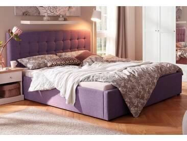 Home affaire Polsterbett »Hamar« mit Knopfheftung, in 3 Größen und 2 Farben, lila, 140 x 200 cm, flieder