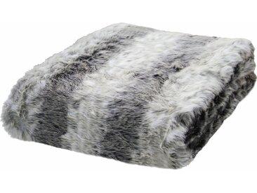TOM TAILOR Wohndecke »Fake Fur«, in Felloptik, grau, Kunstfaser, grau
