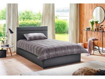 Westfalia Schlafkomfort Polsterbett, in 2 Liegehöhen, grau, ohne Matratze, anthrazit