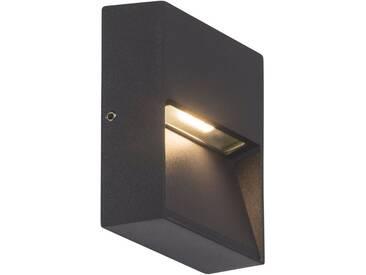 AEG Leuchten LED Außen-Wandleuchte »FRONT«, 1-flammig, selbstreinigend, grau, 1 -flg. / Ø3 cm, anthrazit