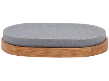 RIDDER Seifenschale »Sassy«, oval, grau, grau/natur