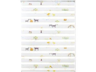 Good Life Doppelrollo nach Maß »Leni«, Lichtschutz, ohne Bohren, in Führungsschienen, Rahmenmontage, 1 Stck., Tiere, bunt, bunt
