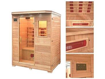 HOME DELUXE Infrarotkabine »Redsun L«, 153/110/190 cm, 40 mm, für bis zu 3 Personen, natur, natur