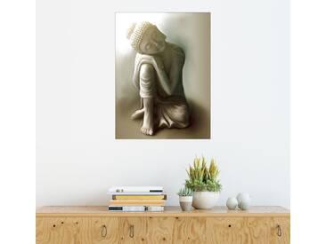 Posterlounge Wandbild - Christine Ganz »Ruhender Buddha«, natur, Forex, 120 x 160 cm, naturfarben
