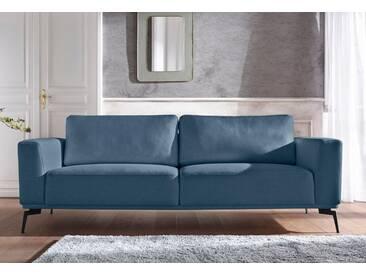Guido Maria Kretschmer Home&Living Big-Sofa »Nantes«, in wunderschönem Design, ungewöhnliche Metallbeine, grün, 236 cm, dunkelpetrol