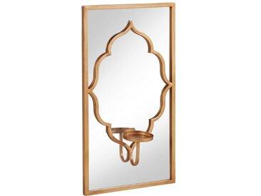 Leonique Wandkerzenhalter »Orient« mit Spiegel, goldfarben, goldfarben