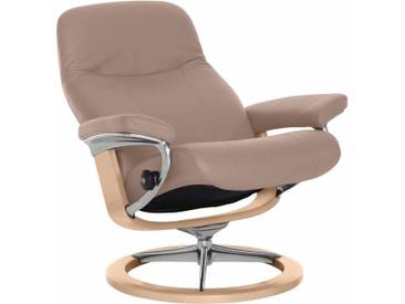 Stressless® Relaxsessel »Garda« mit Signature Base, Größe S, mit Schlaffunktion, rosa, Fuß naturfarben, smoke rose