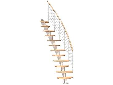 Dolle DOLLE Mittelholmtreppe »Berlin«, für Geschosshöhen bis 315 cm, variabler Treppenlauf, natur, variabel, natur