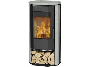 Fireplace FIREPLACE Kaminofen »KARTHAGO NOVO«, Speckstein, 5 kW, ext. Luftzufuhr, prismatische Scheibe, schwarz, schwarz