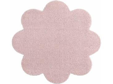 HANSE Home Fußmatte »Deko Soft«, blumenförmig, Höhe 7 mm, saugfähig, waschbar, rosa, 7 mm, rosa