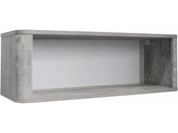 Hängeregal »Aarhus«, in vintage grau/weiß matt Lack, grau, vintage grau/weiß matt Lack