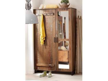 Home affaire Garderobenschrank »Santo« mit Spiegel, braun, braun-bunt gewischt