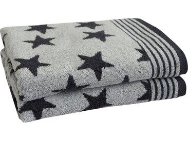 Dyckhoff Handtücher »Stars«, mit Sternen und Bordüre, grau, anthrazit