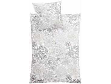 Kleine Wolke Bettwäsche »Lola«, mit bunten Ornamenten, braun, 1x 135x200 cm, Mako-Satin, taupe