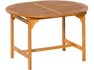 MERXX Gartentisch , Akazienholz, ausziehbar, 170x100 cm, braun, 120/170  cm x 100 cm, braun / holzoptik
