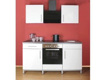 MENKE MÖBELWERKE Küchenzeile mit E-Geräten »Rack-Time II 180«, weiß, mit Aufbauservice, weiss glanz