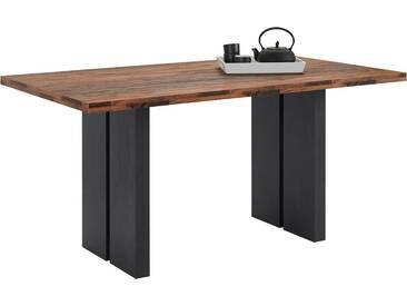 Mäusbacher Tisch »Mister IW«, Breite 160 cm, schwarz, schwarzstahl/eichefarben texas