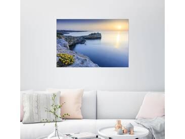 Posterlounge Wandbild - Dennis Siebert »Sonnenaufgang in Porto Cristo«, bunt, Holzbild, 120 x 80 cm, bunt