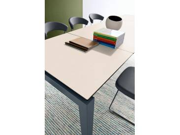 connubia by calligaris Tisch mit Tischplatte aus Keramik »Airport CB/4011«, weiß, Metall grau matt, Keramik weiß