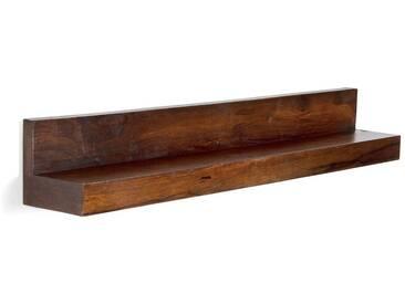 massivum Regal aus Palisander massiv »Monrovia«, braun, 110x16x16cm, braun