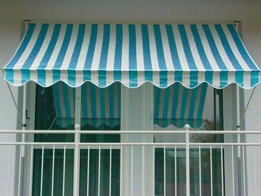 Angerer Freizeitmöbel ANGERER FREIZEITMÖBEL Klemmmarkise »Design Blockstreifen«, blau/weiß, in 6 Breiten, blau, blau