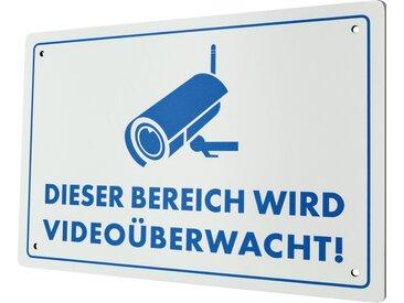 Schwaiger Warnschild Videoüberwachung »Red Secure«, weiß, Weiß/Blau
