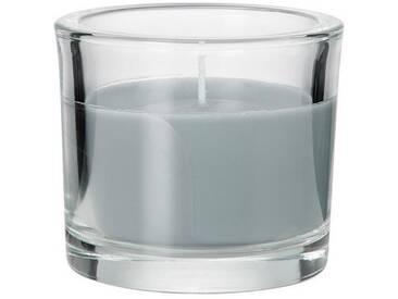 BUTLERS SCENTS »Duftkerze im Glas Vanille«, grau, Ø 8 cm, Höhe 8 cm