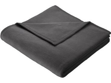 BIEDERLACK Wohndecke »Thermosoft Uni«, gute Wärmehaltung, grau, Baumwolle-Kunstfaser, anthrazit