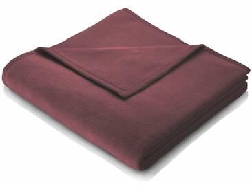 BIEDERLACK Wohndecke »Cotton Home«, im Uni Design, rot, Baumwolle-Kunstfaser, rot
