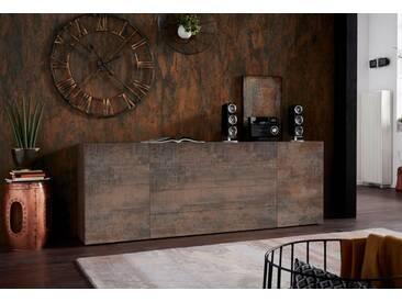 borchardt Möbel Borchardt Möbel Sideboard »MASSA«, Breite 200 cm, braun, Stahlfarben braun