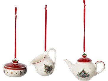 Villeroy & Boch Ornamente Kaffee-Set »Toy's Delight Decoration«, weiß, 6,3cm, weiß,rot