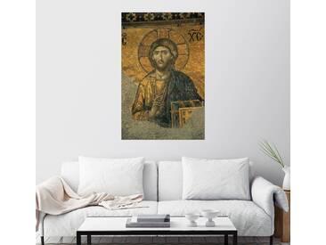 Posterlounge Wandbild - Tim Laman »Ein Mosaik von Jesus Christus in der Hagia So...«, grau, Leinwandbild, 100 x 150 cm, grau