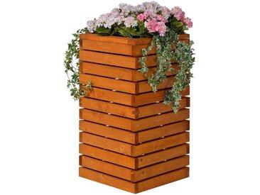 GASPO Pflanzkübel »Baden«, BxTxH: 61x61x100 cm, braun, honigbraun