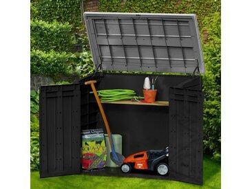 Tepro KETER Mülltonnenbox »Store It Out MAX«, für 2x240 l, BxTxH: 146x82x125 cm, grau, anthrazit/grau
