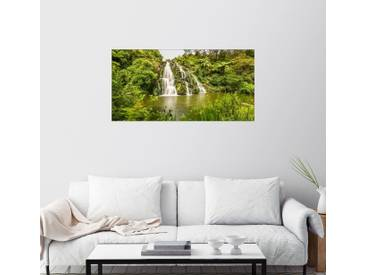 Posterlounge Wandbild - Thomas Hagenau »Wasserfall Coromandel II Panorama«, grün, Forex, 180 x 90 cm, grün