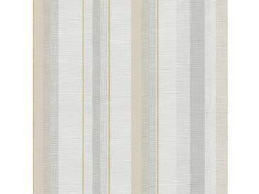 SCHÖNER WOHNEN-KOLLEKTION Vliestapete, P+S, »Streifen Tapete«, bunt, beige-grau-weiß