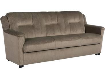Max Winzer® 3-Sitzer Sofa »Plauen«, inklusive Bettfunktion & Bettkasten, Breite 206 cm, braun, schoko