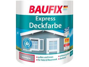 Baufix BAUFIX Buntlack express Deckfarbe dunkelgrau, 2,5 L, grau, 2.5 l, dunkelgrau