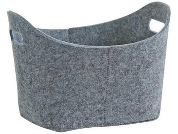 Zeller Present Zeller Filzkorb , oval, grau, grau