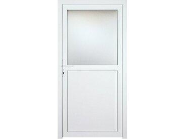KM Zaun KM MEETH ZAUN GMBH Nebeneingangstür »K602P«, BxH: 98x198 cm, weiß, links, weiß, links, weiß