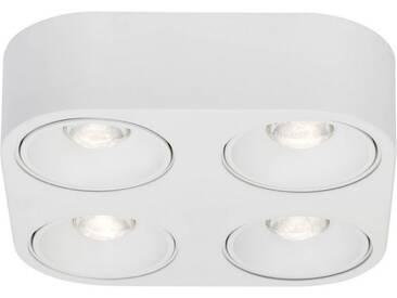 AEG Leca LED Wand- und Deckenleuchte 4flg weiß, weiß, weiß