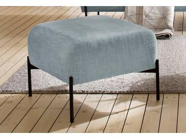 andas Hocker »Bold«, edles, skandinavisches Design, mit Stahlbeinen, blau, petrol