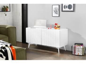 Bruno Banani bruno banani Lowboard »Design 4«, mit 3D-Fronten in Hochglanz, in zwei Breiten, weiß, 2 Türen (105/42/57 cm), weiß Hochglanz