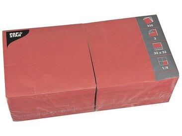 PAPSTAR 250er-Pack Servietten, rot, rot