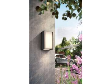 Philips Hue LED Außen-Wandleuchte »Turaco«, 1-flammig, smartes LED-Lichtsystem mit App-Steuerung, grau, 1 -flg. /, anthrazit
