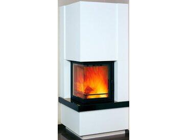 HARK Kaminbausatz »Easy 500«, 8 kW, weiß mit Sims aus naturschwarzem Granit, grau, grau