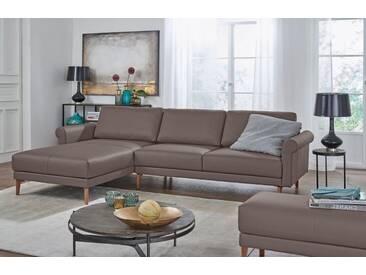 Hülsta Sofa hülsta sofa Polsterecke »hs.450« im modernen Landhausstil, Breite 282 cm, grau, Recamiere links, beigegrau