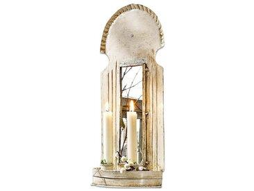 Loberon Wandkerzenhalter »Cyrillia«, weiß, antikweiß